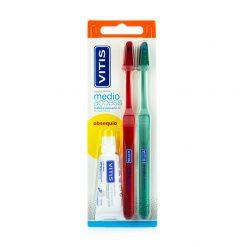 Vitis-Cepillo-Dental-Medio-Access-Duplo-Obsequio