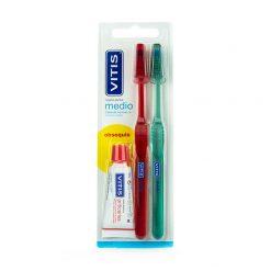 Vitis-Cepillo-Dental-Medio-Duplo-Obsequio