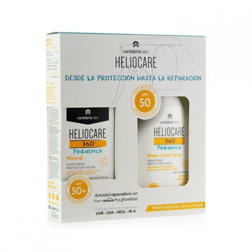 Heliocare-360-Pediatrics-Pack-Mineral-SPF-50-+-Atopic-Lotion-Spray-SPF-50